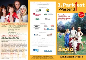 Flyer zum 2.Westender Parkfest Seite 2