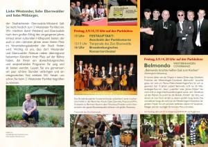 Flyer zum 2. Westender Parkfest