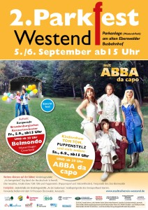 Plakat zum 2. Westender Parkfest