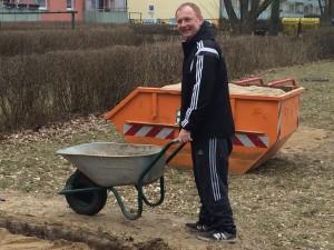 Vorsitzender Danko Jur beim Sandanfahren